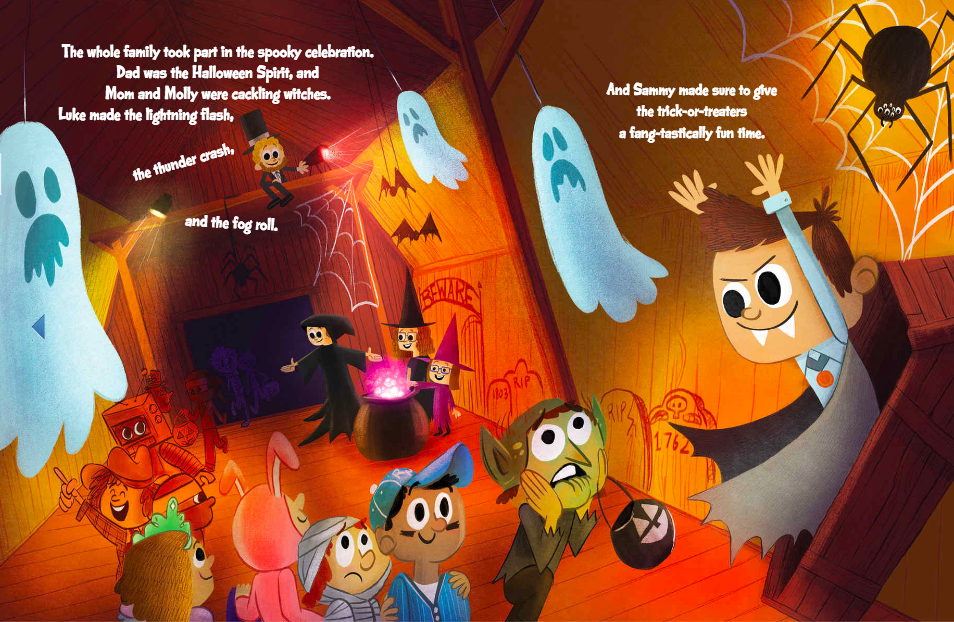 celebrate-picture-books-picture-book-review-sammy's-spooktacular-halloween-haunted-house