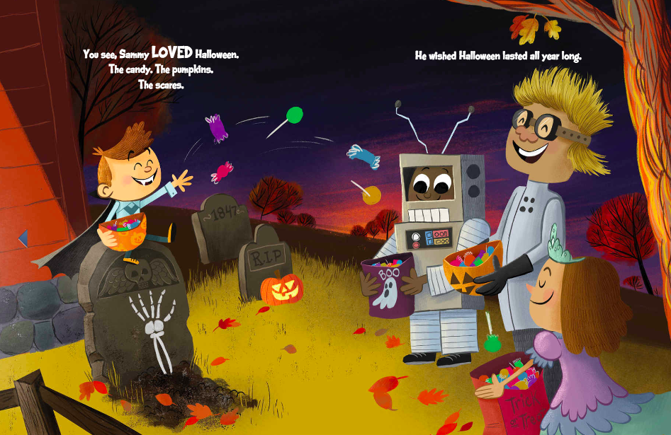 celebrate-picture-books-picture-book-review-sammy's-spooktacular-halloween-candy