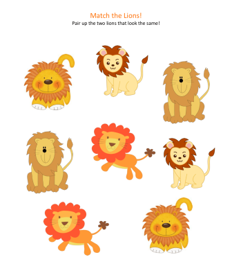 celebrate-picture-books-picture-book-review-Match-the-Lions-activity