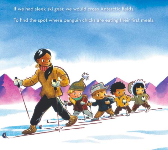 celebrate-picture-books-picture-book-review-because-you-are-my-teacher-skis