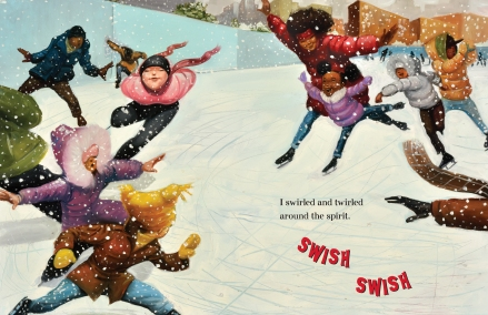 celebrate-picture-books-picture-book-review-I-Got-The-Christmas-Spirit-skating