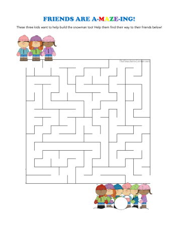 celebrate-picture-books-picture-book-review-friends-are-a-maze-ing-winter-maze-puzzle
