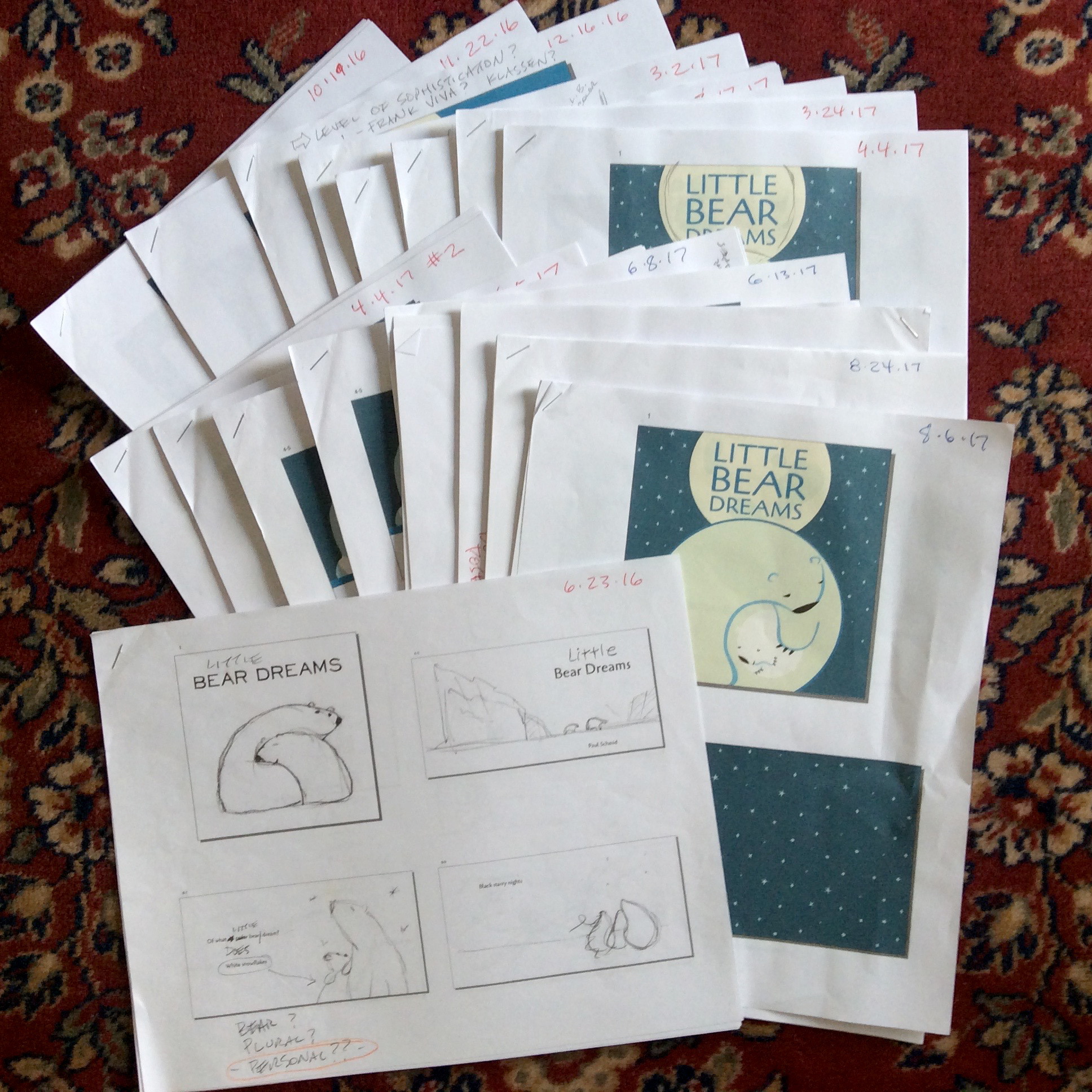 CPB - Paul Schmid Interview - more sketches for Little Bear Dreams