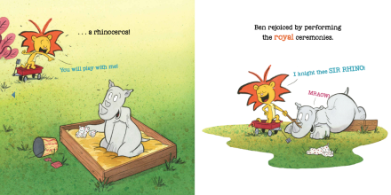 celebrate-picture-books-picture-book-review-king-ben-and-sir-rhino-meets-rhino