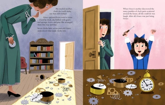 celebrate-picture-books-picture-book-review-grace-hopper-queen-of-computer-code-clock