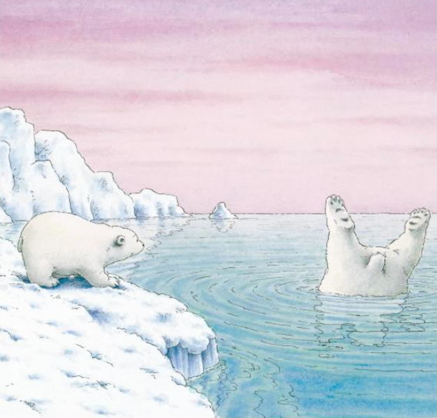 celebrate-picture-books-picture-book-review-the-little-polar-bear-diving