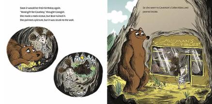 celebrate-picture-books-picture-book-review-cavekid-birthday-unwrapping-caveman-cavegirl