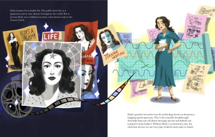 celebrate-picture-books-picture-book-review-hedy-lamarr's-double-life-magazines