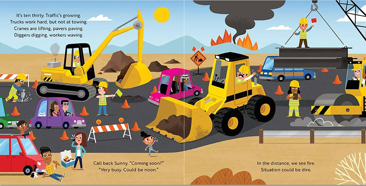 celebrate-picture-books-picture-book-review-sunny's-tow-truck-saves-the-day-construction-vehicles