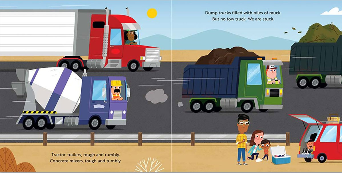 celebrate-picture-books-picture-book-review-sunny's-tow-truck-saves-the-day-trucks