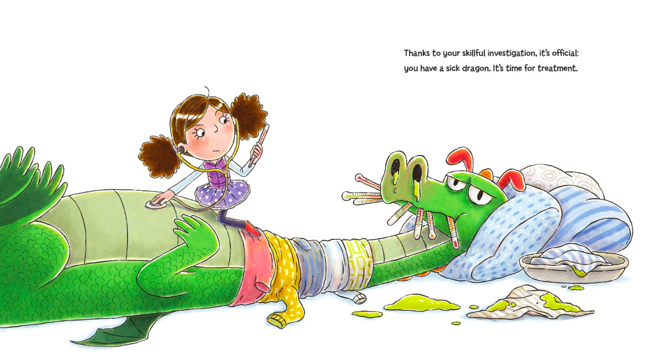 celebrate-picture-books-picture-book-review-dragons-get-colds-too-fever