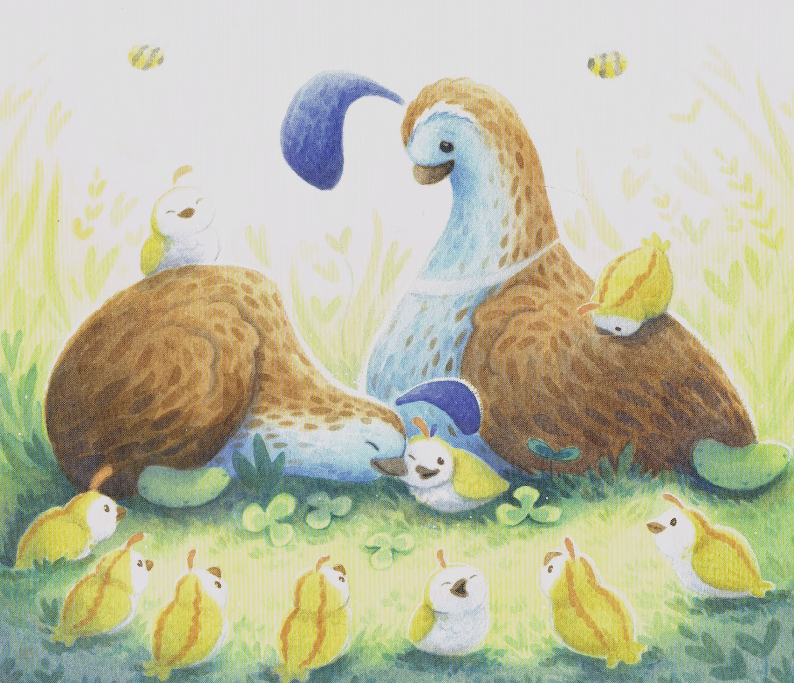 celebrate-picture-books-picture-book-review-queenie-quail-can't-keep-up-nuzzling