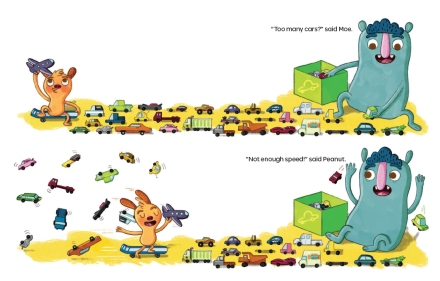celebrate-picture-books-picture-book-review-too-much-not-enough-cars