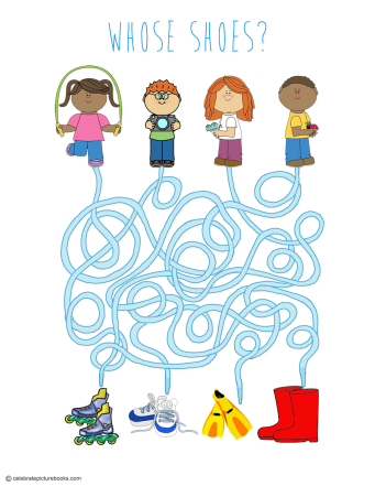 celebrate-picture-books-picture-book-review-whose-shoes-maze