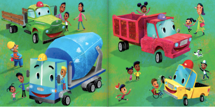 celebrate-picture-books-picture-book-review-little-yellow-truck-playing-with-kids