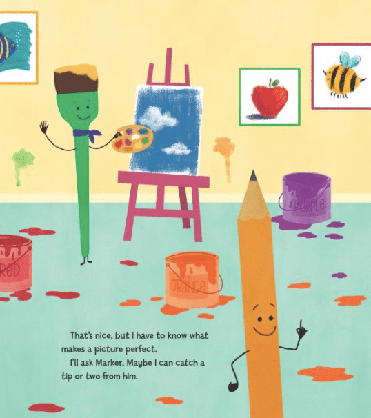 celebrate-picture-books-picture-book-review-pencil's-perfect-picture-paint-brush