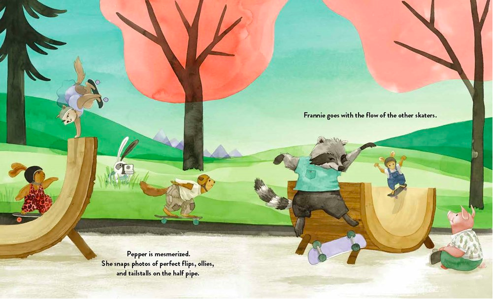 celebrate-picture-books-picture-book-review-Pepper-and-Frannie-skate-park