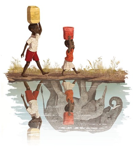 celebrate-picture-books-picture-book-review-our-elephant-neighbors-fetching-water
