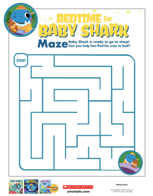 celebrate-picture-books-picture-book-review-bedtime-for-baby-shark-maze-activity