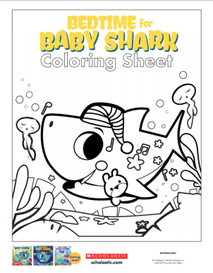 celebrate-picture-books-picture-book-review-bedtime-for-baby-shark-scholastic-coloring-page-activity