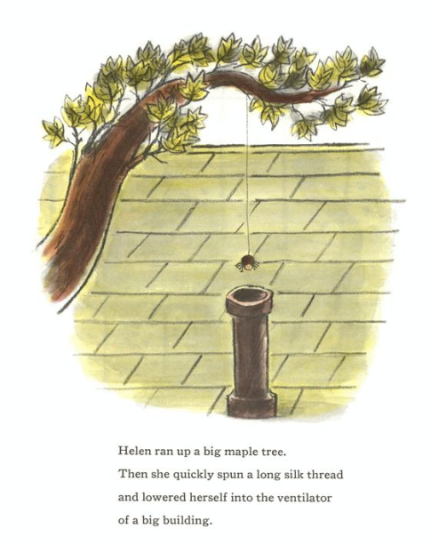 celebrate-picture-books-picture-book-review-be-nice-to-spiders-roof