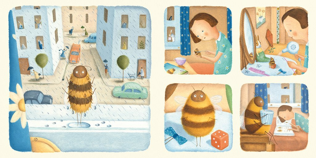 celebrate-picture-books-picture-book-review-bee-and-me-scattering-rained-on