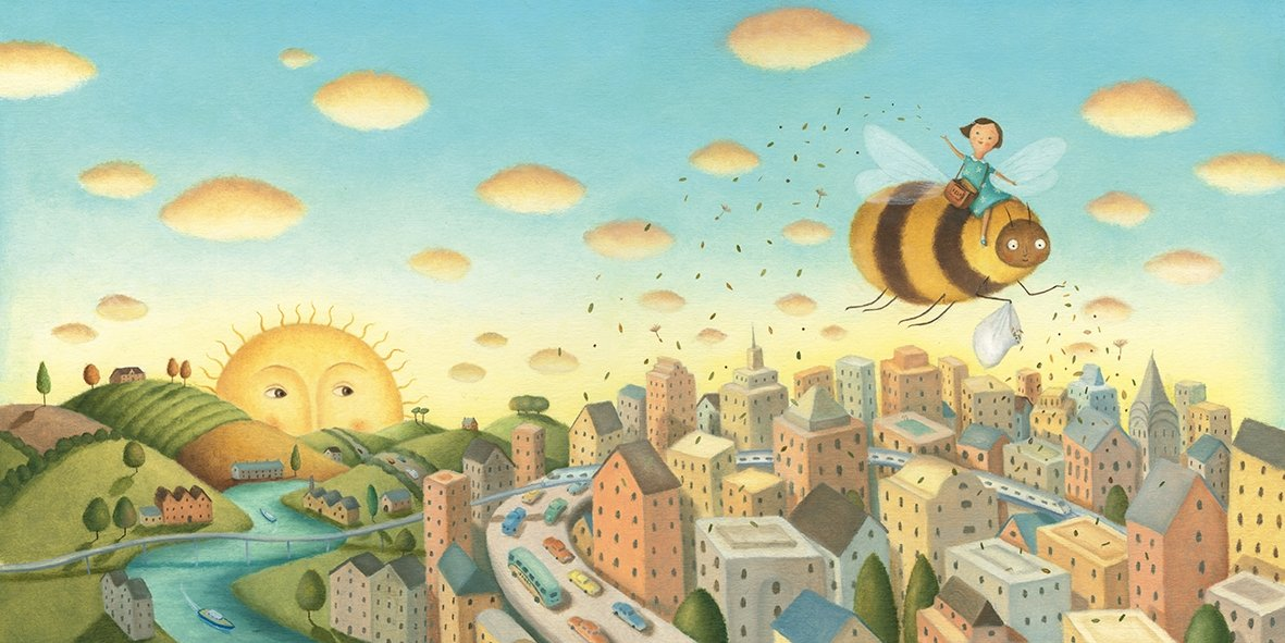 celebrate-picture-books-picture-book-review-bee-and-me-scattering-seeds