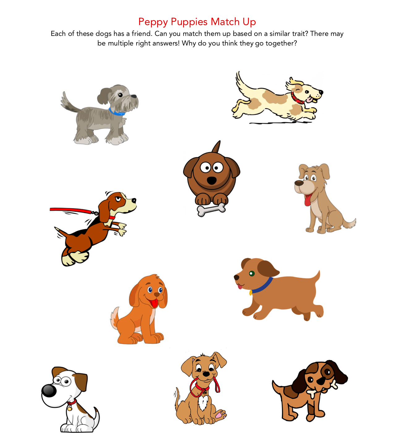 CPB - Peppy Puppies Match Up Puzzle
