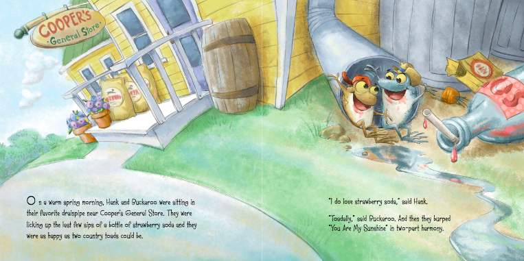 celebrate-picture-books-picture-book-review-back-roads-country-toads-drain-pipe
