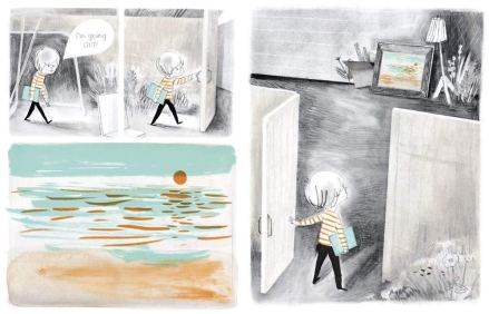 celebrate-picture-books-picture-book-review-albert's-quiet-quest-going-out
