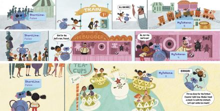 celebrate-picture-books-picture-book-review-how-to-code-a-rollercoaster-using-tokens