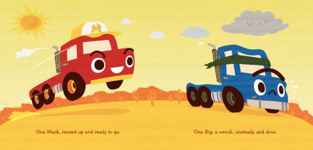 celebrate-picture-books-picture-book-review-two-tough-trucks-meeting