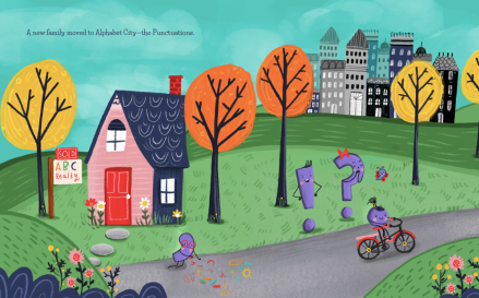 celebrate-picture-books-picture-book-review-the-day-punctuation-came-to-town-alphabet-city