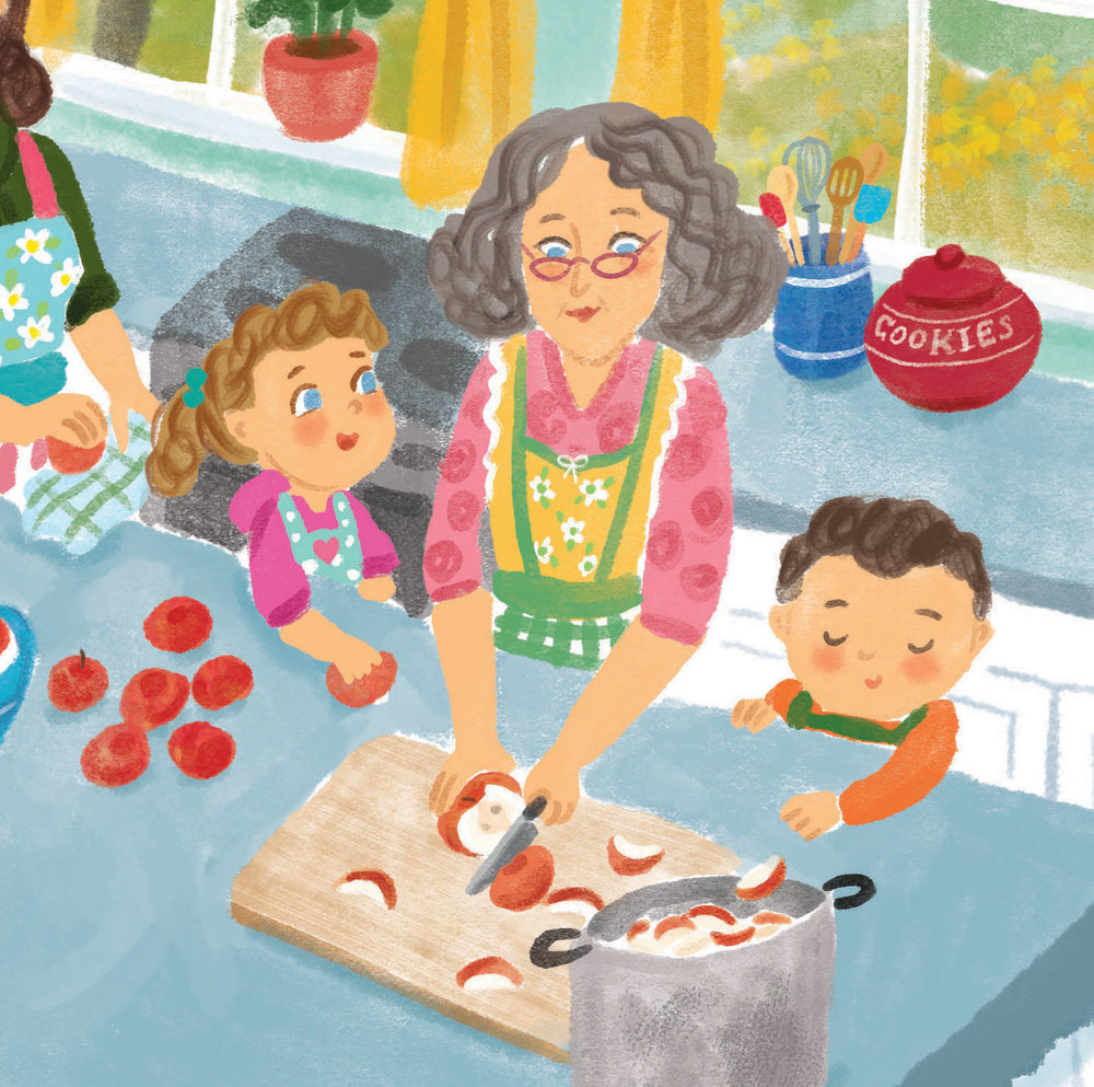 celebrate-picture-books-picture-book-review-aplesauce-day-chopping-apples