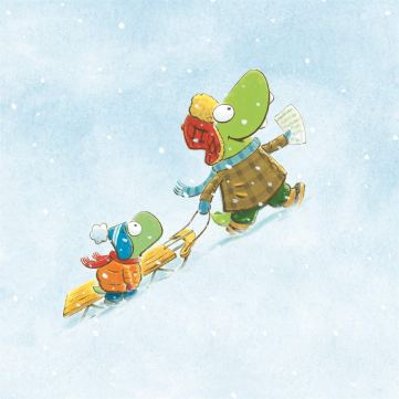 celebrate-picture-books-picture-book-review-croc-and-turtle-snow-fun-uphill
