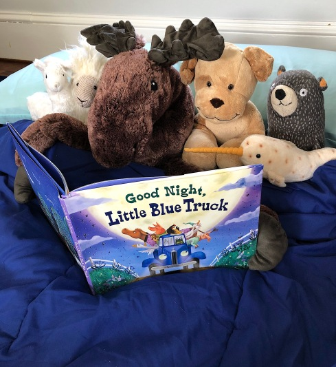 celebrate-picture-books-picture-book-review-good-night-little-blue-truck-pajama-party-reading-1