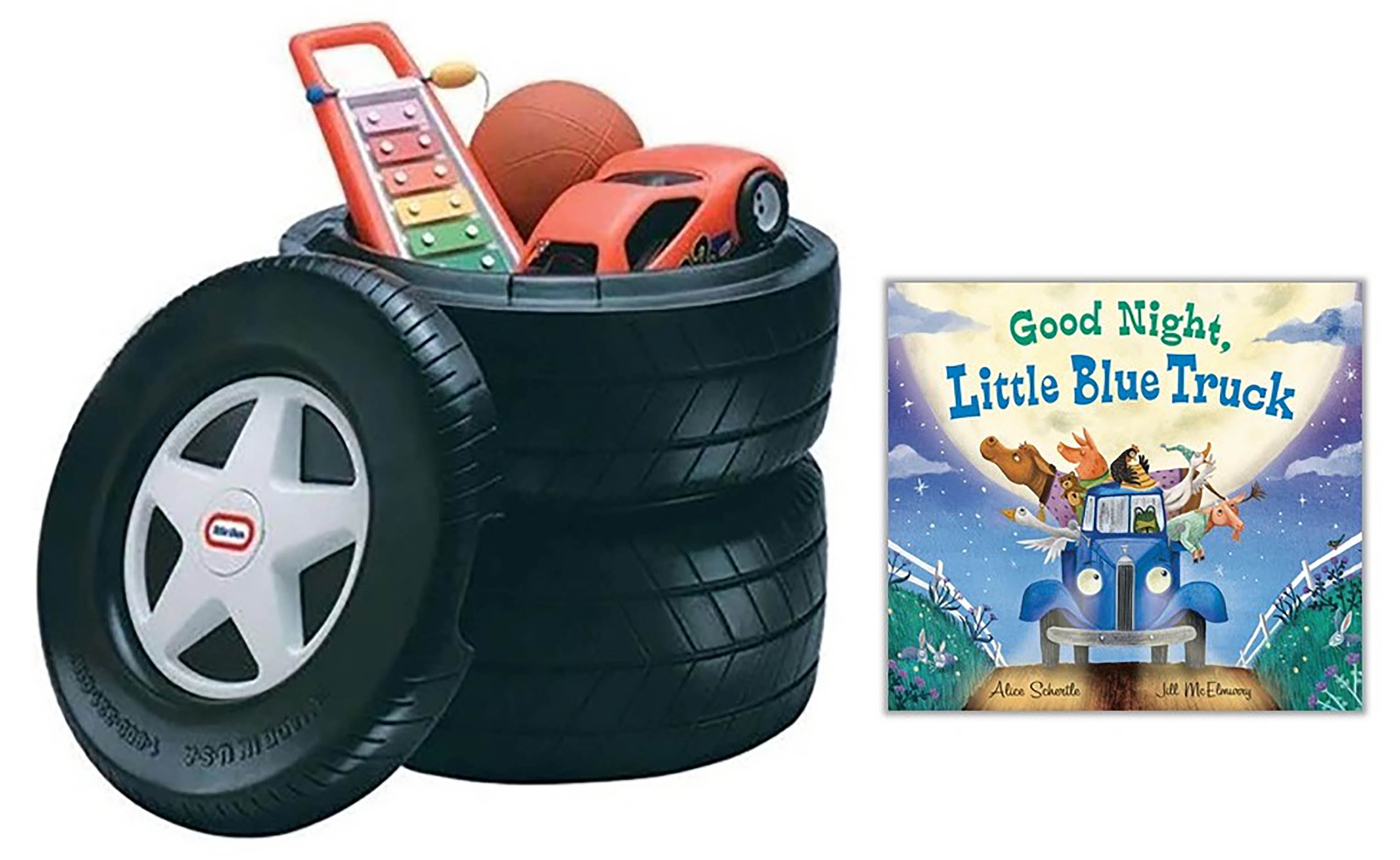 celebrate-picture-books-picture-book-review-Good-Night-Little-Blue-Truck-Toy-Chest-Prize