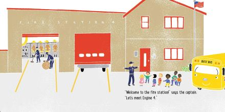 celebrate-picture-books-picture-book-review-it's-a-field-trip-busy-bus-fire-station