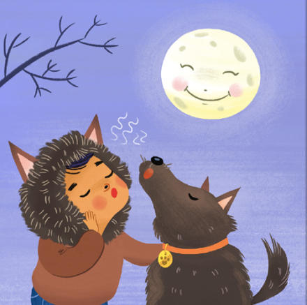 celebrate-picture-books-picture-book-review-if-you're-scary-and-you-know-it-werewolf