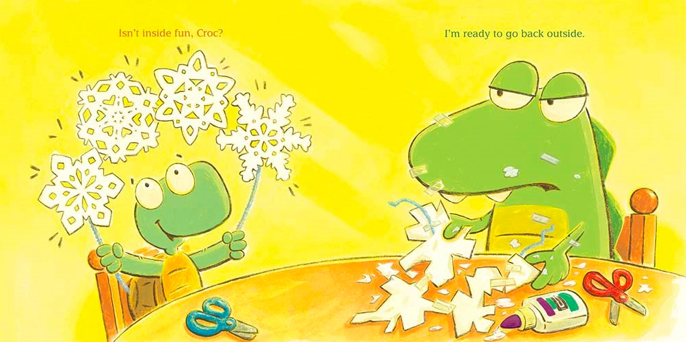 celebrate-picture-books-picture-book-review-croc-and-turtle-snow-fun-paper-snowflakes