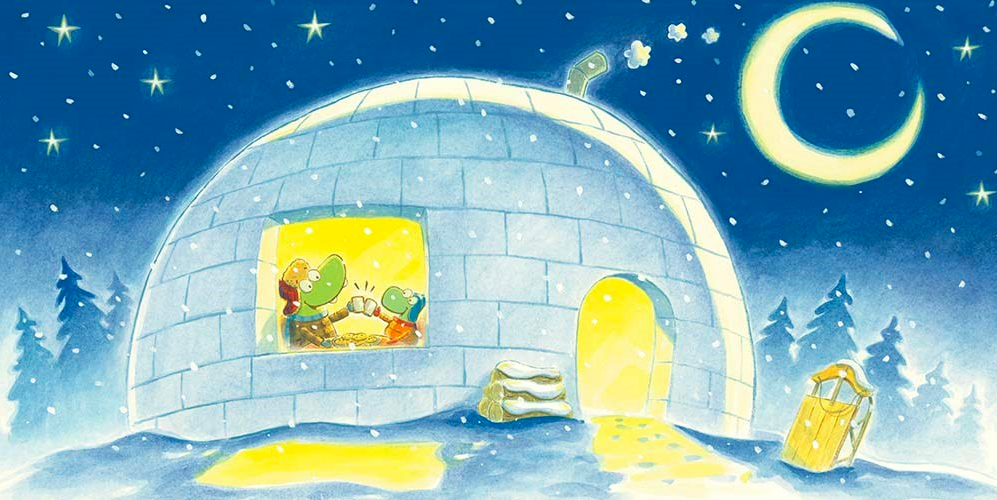 celebrate-picture-books-picture-book-review-croc-and-turtle-snow-fun-igloo