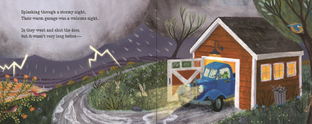 celebrate-picture-books-picture-book-review-good-night-little-blue-truck-garage