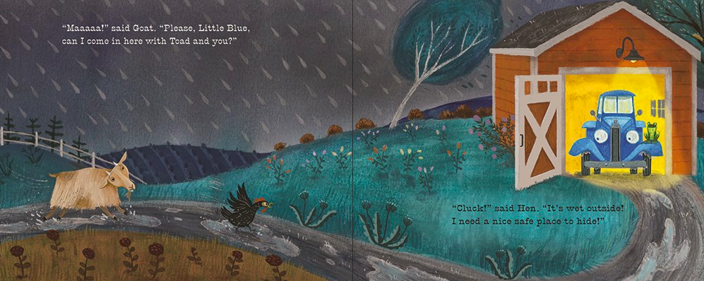 celebrate-picture-books-picture-book-review-good-night-little-blue-truck-goat