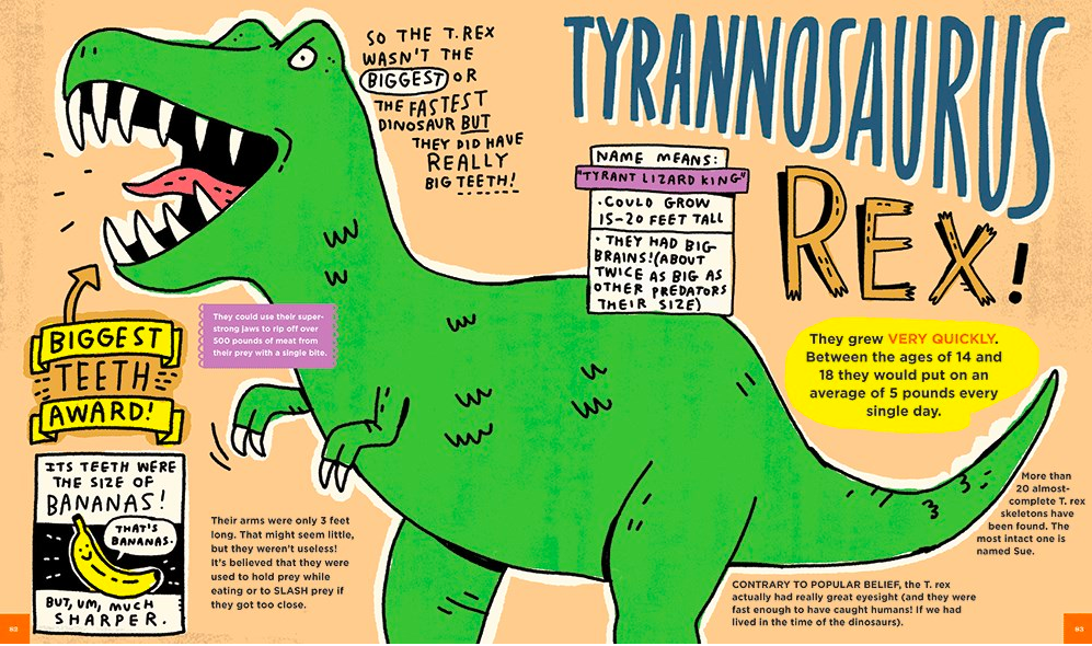 celebrate-picture-books-picture-book-review-everything-awesome-about-dinosaurs-t-rex