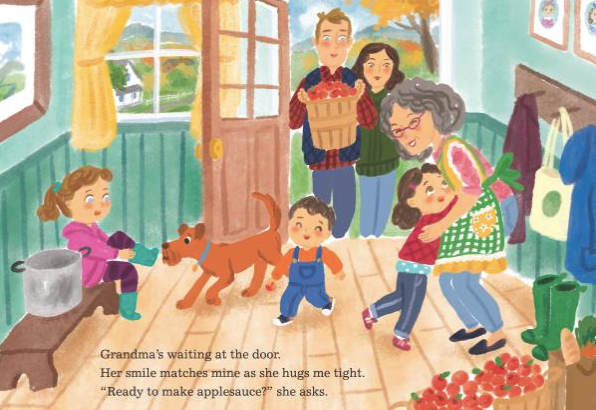 celebrate-picture-books-picture-book-review-aplesauce-day-grandma's-house
