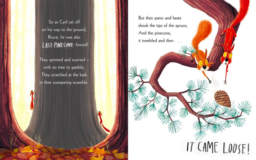 celebrate-picture-books-picture-book-review-the-squirrels-who-squabbled-pinecone