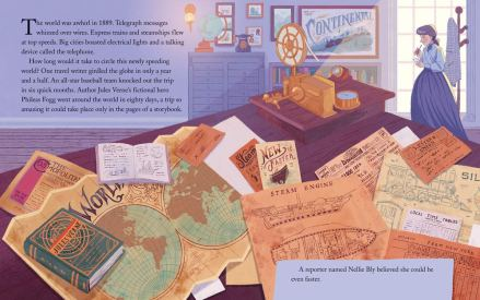 celebrate-picture-books-picture-book-review-the-race-around-the-world-nellie-bly