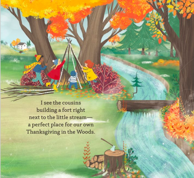 celebrate-picture-books-picture-book-review-thanksgiving-in-the-woods-fort