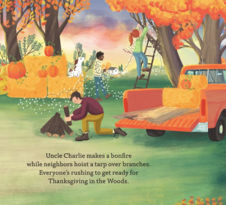 celebrate-picture-books-picture-book-review-thanksgiving-in-the-woods-bonfire