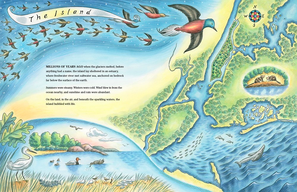celebrate-picture-books-picture-book-review-manhattan-mapping-the-story-of-an-island-beginning